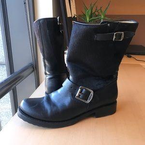 Frye Veronica Calf-hair boot short
